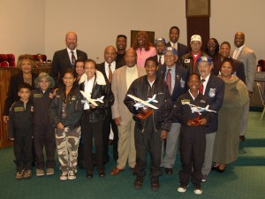 TAM along with Tuskegee Airmen and Aviation Explorers awarded at Compton City Council Meeting in 2004